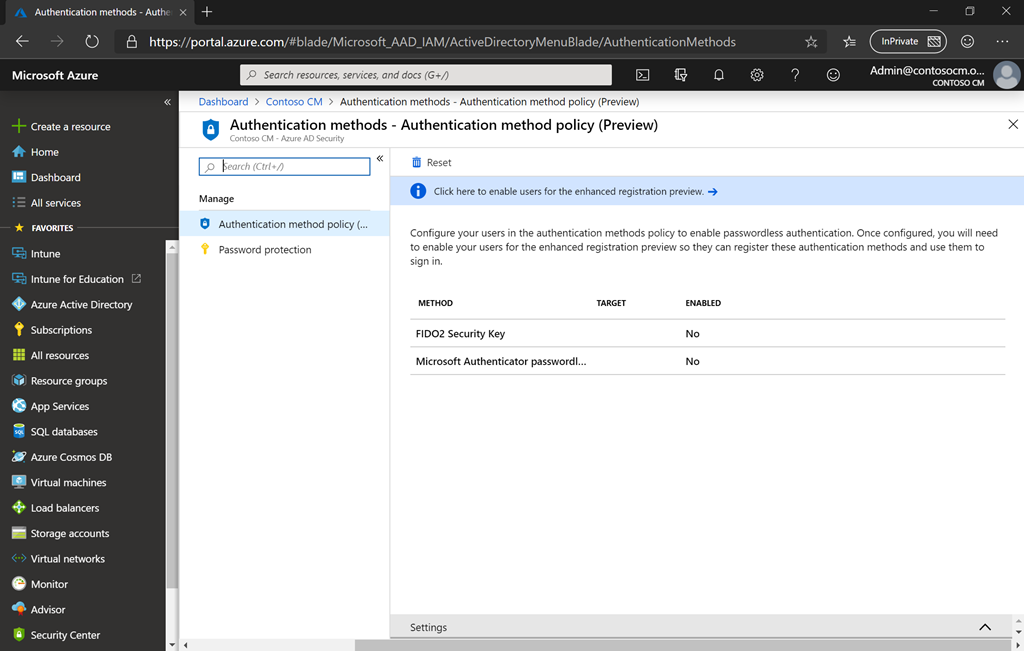 Sign in to Azure Active Directory with a FIDO2 key – Out of